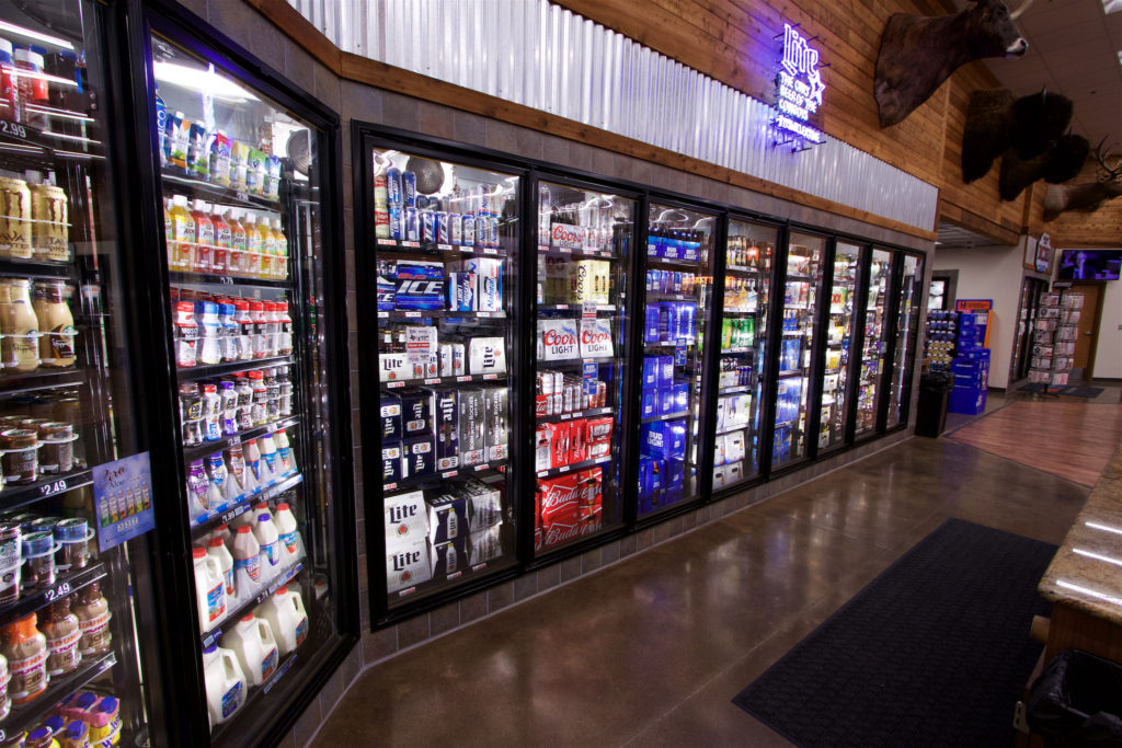 refrigeration and freezer display in c-store or retail foodservice setting